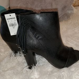 Express Peep Toe Ankle Boots